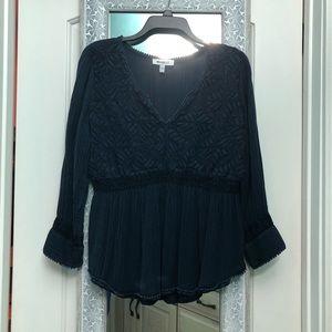 Soft peplum blouse